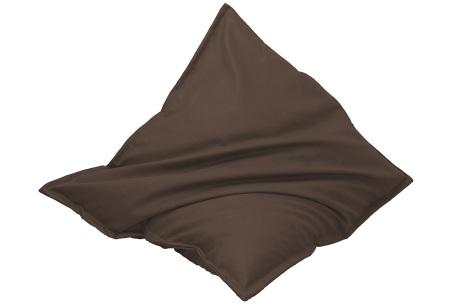 Drop & Sit leather look zitzak | Keuze uit 14 kleuren en 2 afmetingen cognac bruin