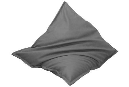 Drop & Sit leather look zitzak | Keuze uit 14 kleuren en 2 afmetingen grijs