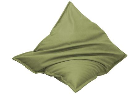 Drop & Sit leather look zitzak | Keuze uit 14 kleuren en 2 afmetingen lime groen