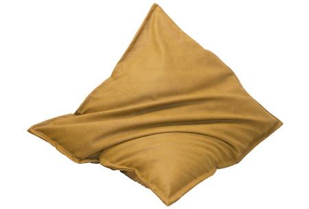 Drop & Sit leather look zitzak | Keuze uit 14 kleuren en 2 afmetingen mais geel