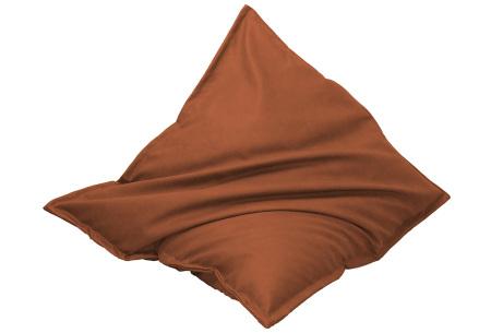 Drop & Sit leather look zitzak | Keuze uit 14 kleuren en 2 afmetingen terra bruin/oranje