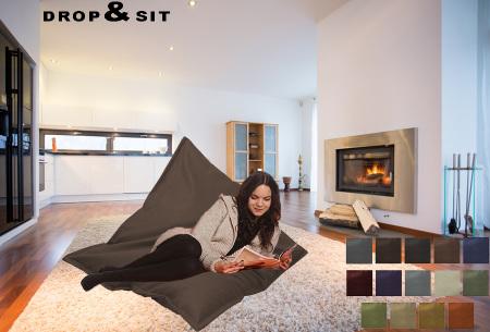 Drop & Sit leather look zitzak | Keuze uit 14 kleuren en 2 afmetingen