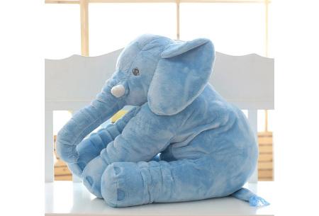 Olifant knuffel  | Zacht knuffeldier voor baby's & kinderen in 2 afmetingen  blauw