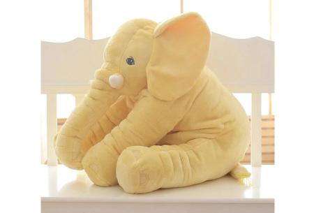 Olifant knuffel  | Zacht knuffeldier voor baby's & kinderen in 2 afmetingen  geel