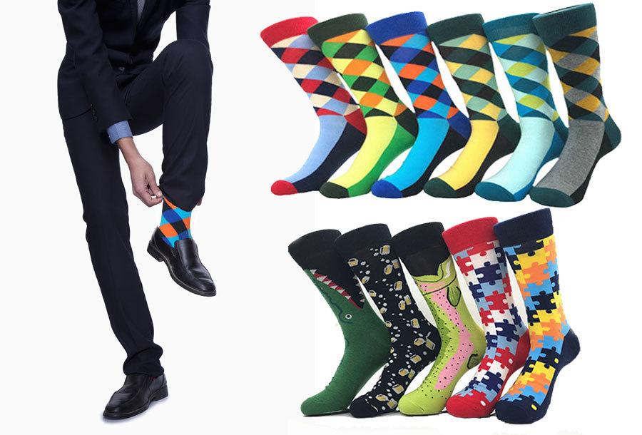 Gekleurde sokken voor hem en haar