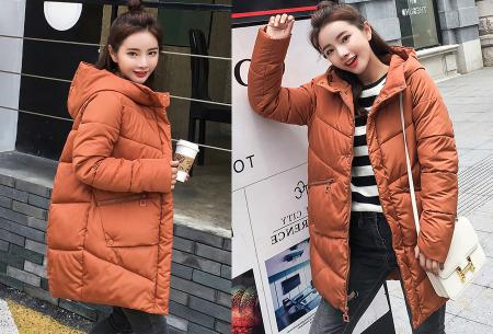 Padded winterjas | Trotseer de koude winter met deze heerlijk warme damesjas caramel