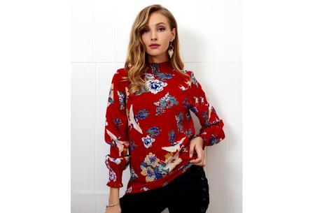 Flower blouse | Stijlvolle dames top met bloemenprint rood