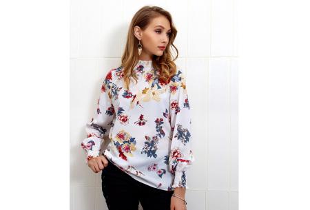 Flower blouse | Stijlvolle dames top met bloemenprint wit