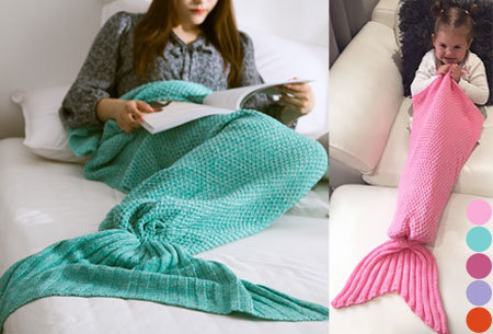 Zeemeermin deken nu heel goedkoop in de aanbieding