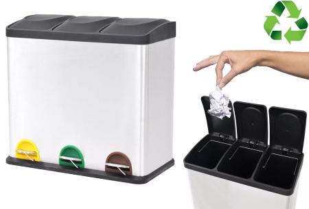Recycle prullenbak - pedaalemmer met korting