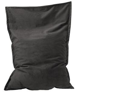 Drop & Sit velvet zitzak | Prachtige fluwelen stof - Keuze uit 10 kleuren en 2 afmetingen Antraciet