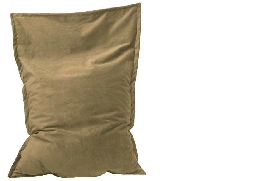 Velvet zitzak Maat 130 x 150 cm - Cappuccino beige