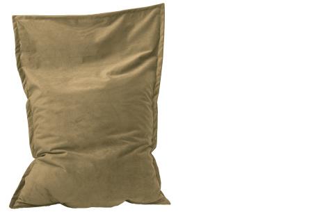 Drop & Sit velvet zitzak | Prachtige fluwelen stof - Keuze uit 10 kleuren en 2 afmetingen Cappuccino beige