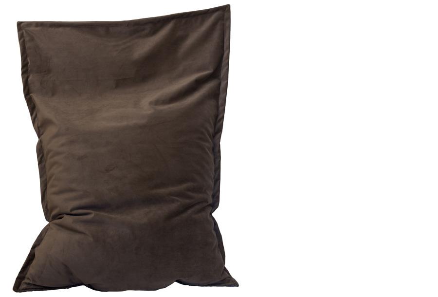 Velvet zitzak Maat 130 x 150 cm - Donkerbruin