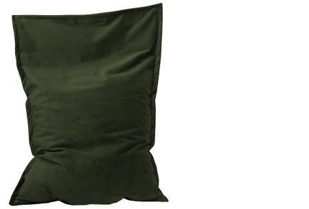 Drop & Sit velvet zitzak | Prachtige fluwelen stof - Keuze uit 10 kleuren en 2 afmetingen Emerald groen