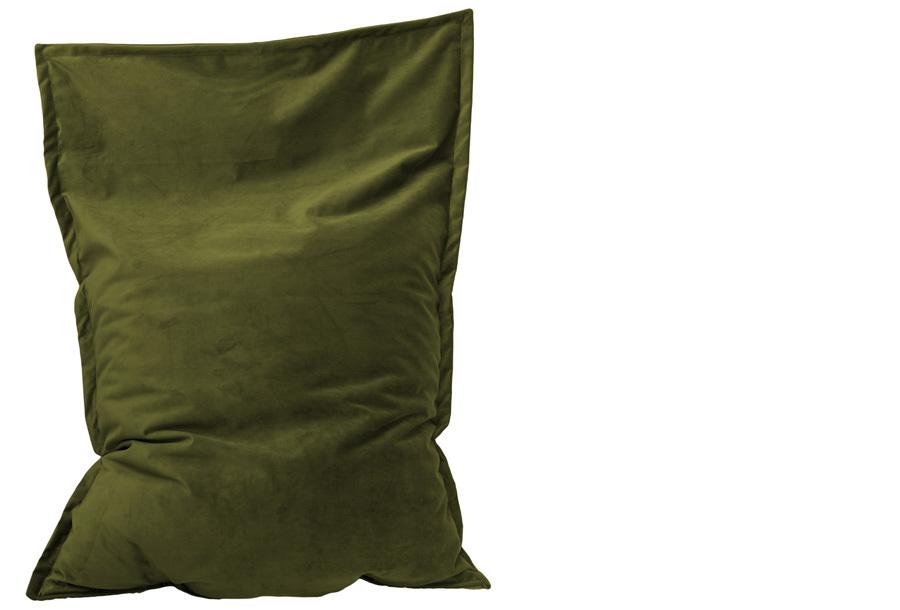 Velvet zitzak Maat 130 x 150 cm - Moss groen