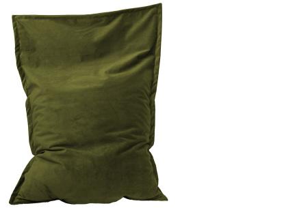 Drop & Sit velvet zitzak | Prachtige fluwelen stof - Keuze uit 10 kleuren en 2 afmetingen Moss groen