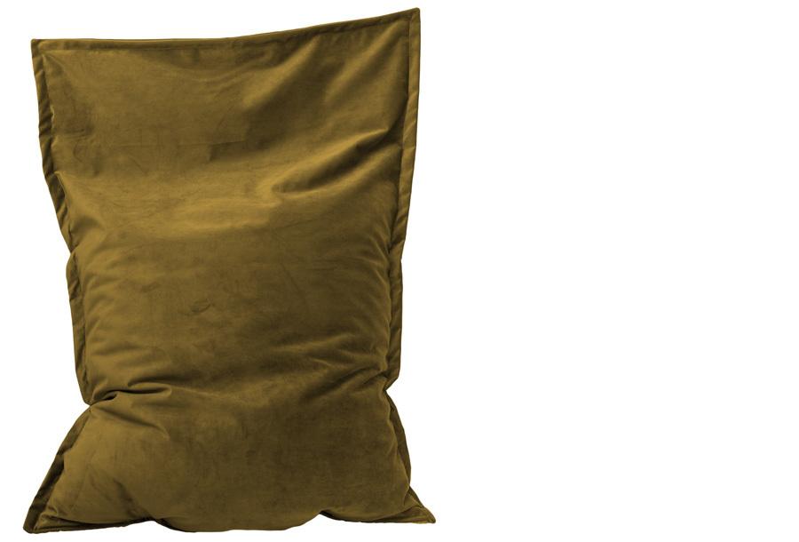 Velvet zitzak Maat 130 x 150 cm - Ocre geel