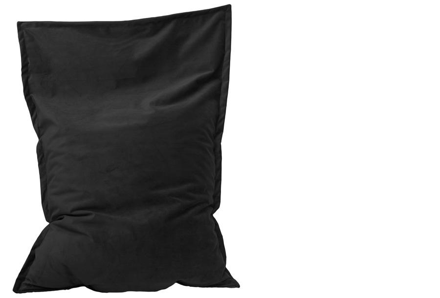 Velvet zitzak Maat 130 x 150 cm - Onyx zwart