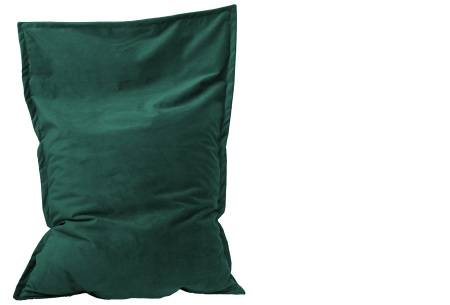 Drop & Sit velvet zitzak | Keuze uit 10 kleuren en 2 afmetingen Turquoise