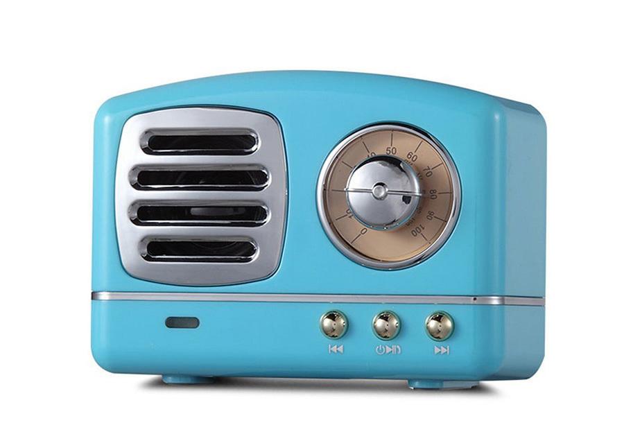 Retro Bluetooth speaker Blauw