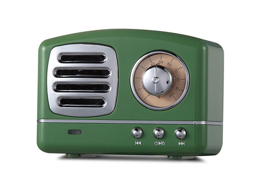 Retro Bluetooth speaker Groen