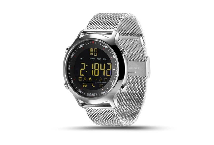 Smart Tacwatch militairy 500 Zilverkleurig