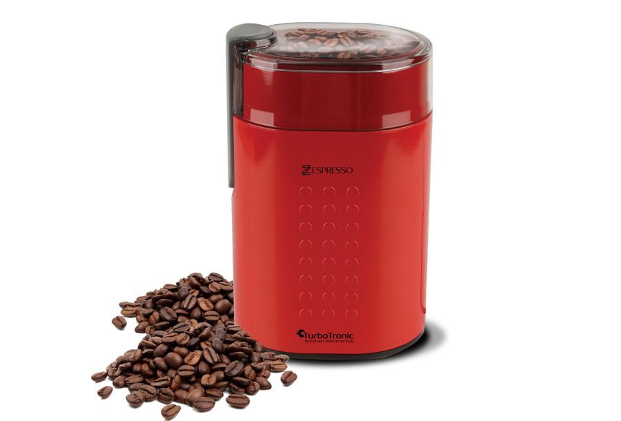 TurboTronic koffiemachine & koffiemolen Koffiemolen - rood