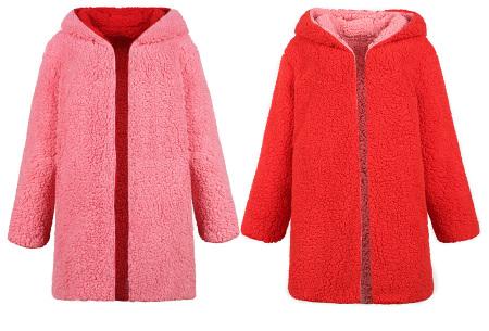 Reversible teddy vest | Heerlijk warm, zacht en comfortabel Roze/rood