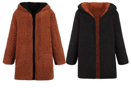 Reversible teddy vest | Heerlijk warm, zacht en comfortabel Zwart/bruin
