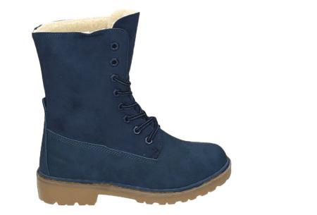 Gevoerde boots   Nu verkrijgbaar in maar liefst 7 kleuren Blauw