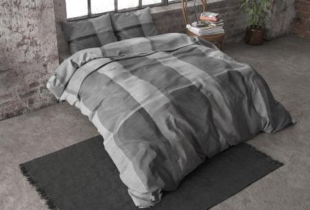 Flanellen dekbedovertrekken van Dreamhouse | Voor een warme & comfortabele nachtrust brock - grijs