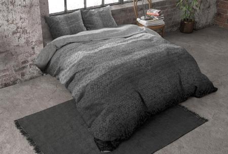 Flanellen dekbedovertrekken van Dreamhouse | Voor een warme & comfortabele nachtrust gradient - antraciet