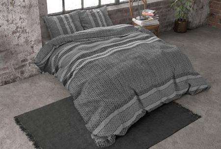 Flanellen dekbedovertrekken van Dreamhouse | Voor een warme & comfortabele nachtrust paige - grijs