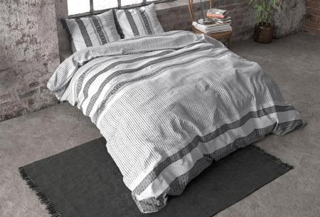 Flanellen dekbedovertrekken van Dreamhouse | Voor een warme & comfortabele nachtrust paige - wit