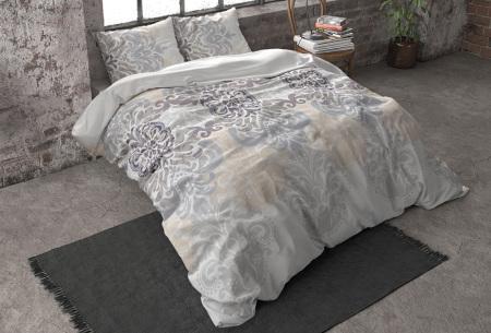 Flanellen dekbedovertrekken van Dreamhouse | Voor een warme & comfortabele nachtrust rake - grijs