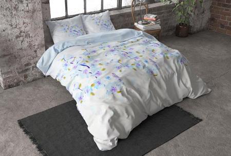Flanellen dekbedovertrekken van Dreamhouse | Voor een warme & comfortabele nachtrust sweet flowers - turquoise
