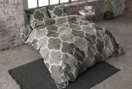 Flanellen dekbedovertrekken van Dreamhouse | Voor een warme & comfortabele nachtrust william - grijs