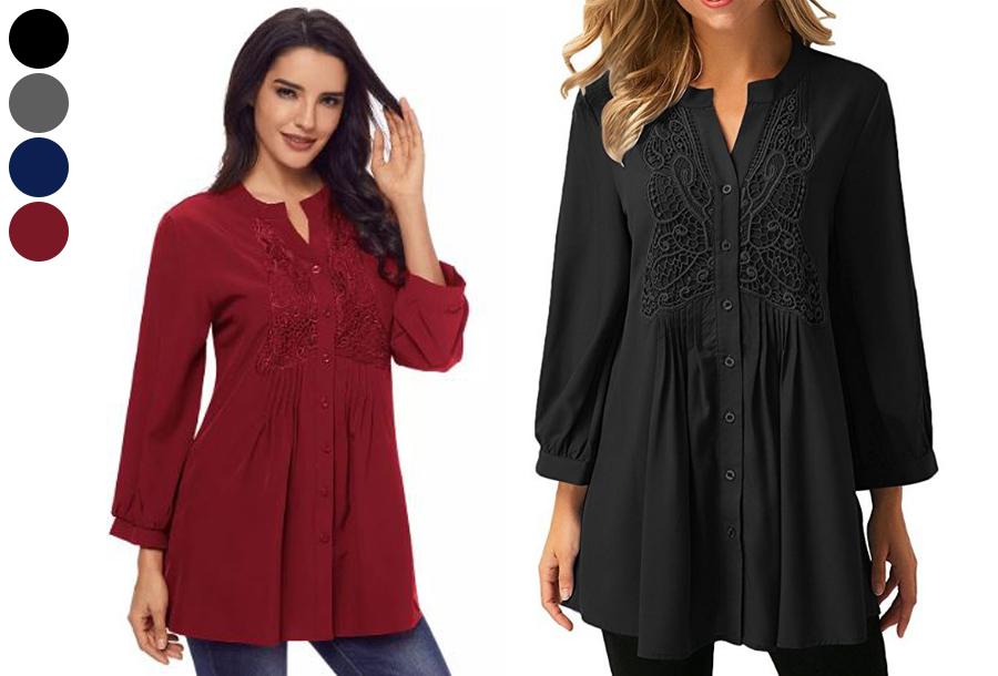 Lacey blouse nu met hoge korting