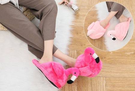 Flamingo sloffen nu met heel veel korting in de sale