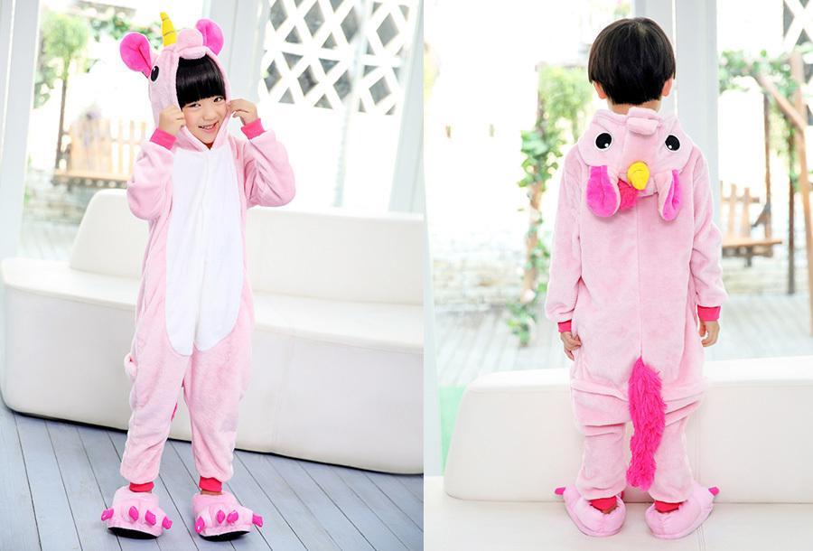 Unicorn onesie kinderen Kinderlengte 140 CM - Roze