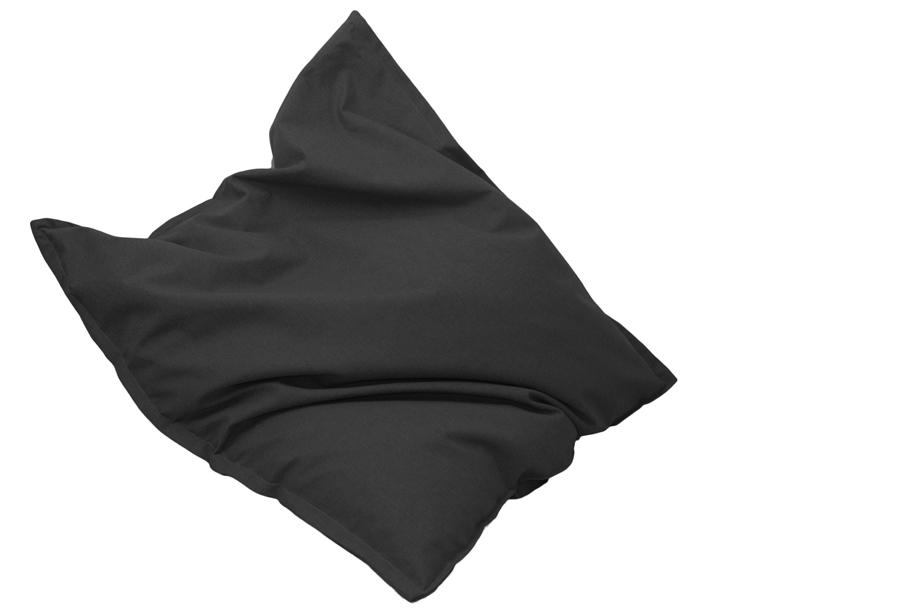 Drop & Sit stoffen zitzak 130 x 150 cm - Onyx zwart