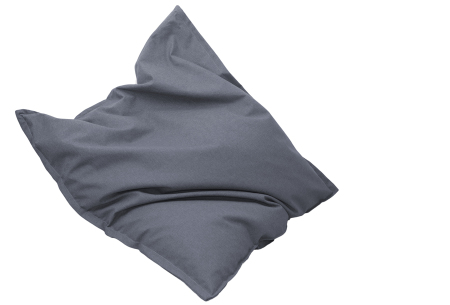 Drop & Sit stoffen zitzak | Ultiem comfort en een stijlvolle uitstraling in je interieur grijs