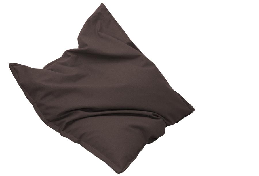 Drop & Sit stoffen zitzak 130 x 150 cm - Bruin