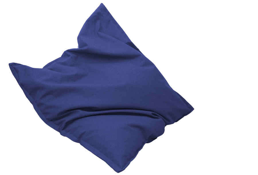 Drop & Sit stoffen zitzak 130 x 150 cm - Donkerblauw