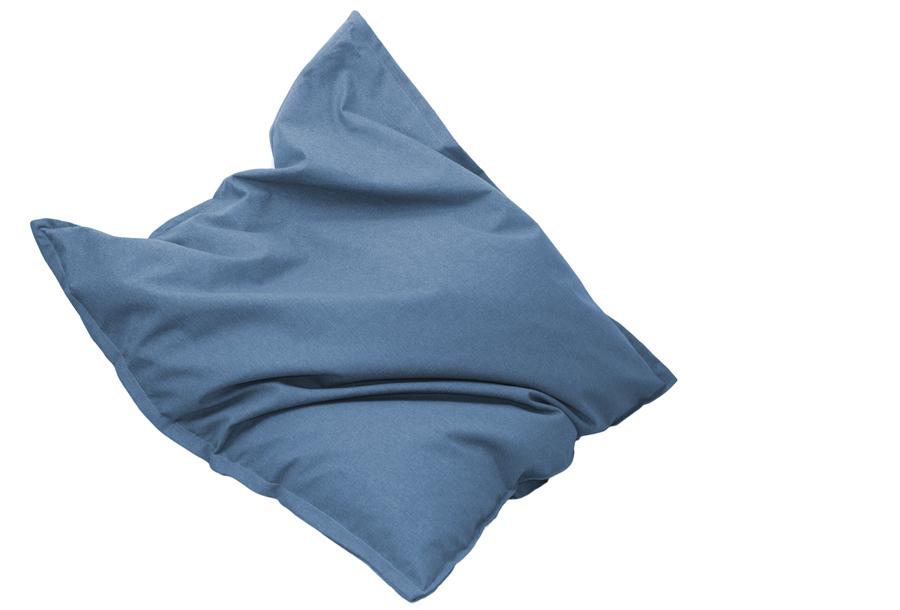 Drop & Sit stoffen zitzak 130 x 150 cm - Lichtblauw
