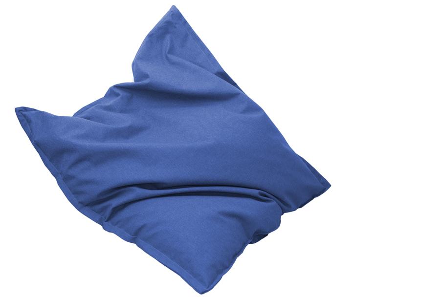 Drop & Sit stoffen zitzak 130 x 150 cm - Aqua blauw