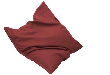 Drop & Sit stoffen zitzak | Ultiem comfort en een stijlvolle uitstraling in je interieur fire rood