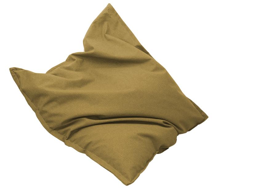 Drop & Sit stoffen zitzak 130 x 150 cm - Mango geel