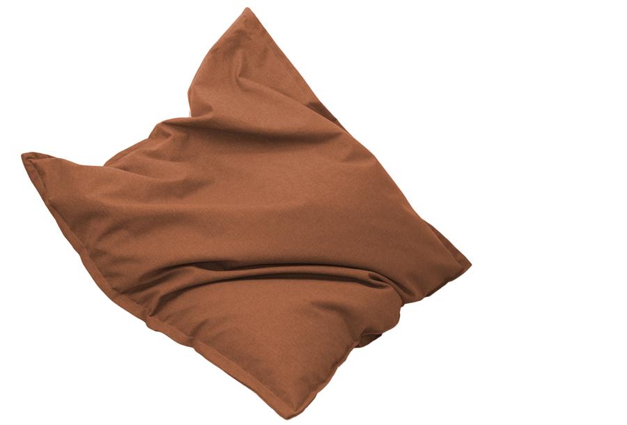 Drop & Sit stoffen zitzak 130 x 150 cm - Mandarin oranje